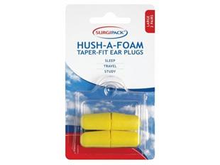 Surgipack Ear Plugs Hush A Foam Taper Super
