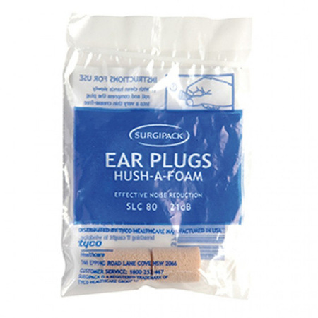 SurgiPack Hush-a-Foam Ear Plugs 1 Pair