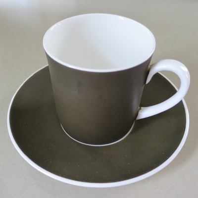 """Darkest green  """"Forest""""  cup and Saucer"""