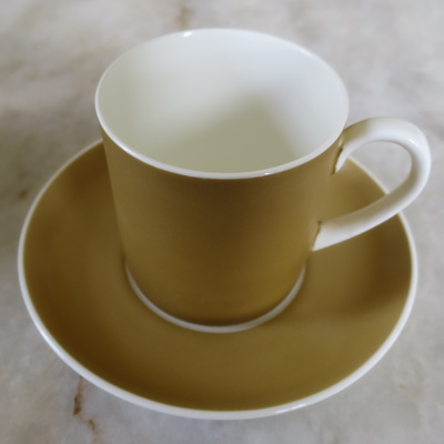 Amber pattern cup and saucer