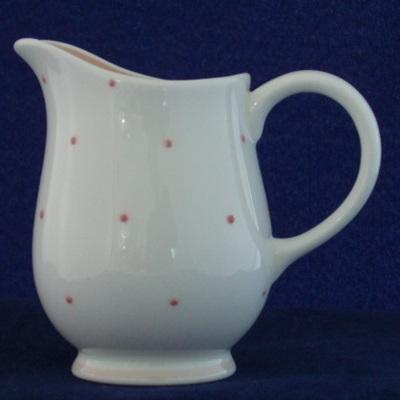 Susie Cooper pink spotted cream jug