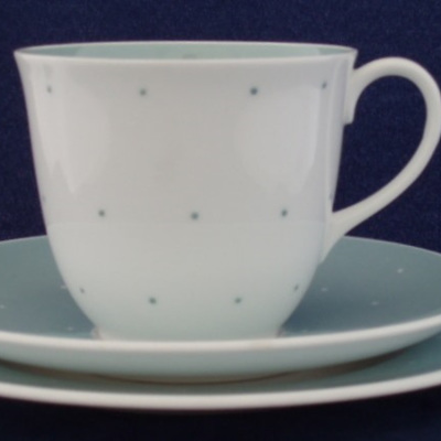 Susie Cooper tea or coffee raised spots in blue