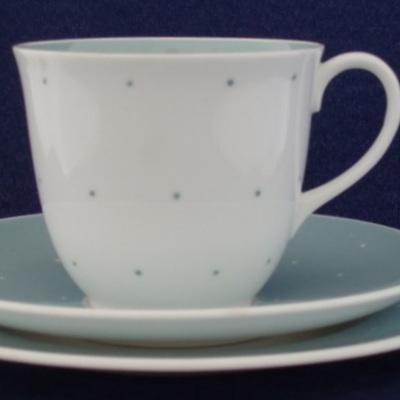 Susie cooper tea or coffee raised spots in blue