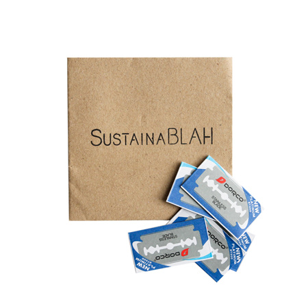 Sustainablah Stainless Steel Razor Replacement Blades - 10 Pack