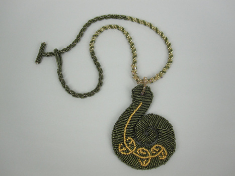 Suzanne Neve, Beaded Koru Necklace