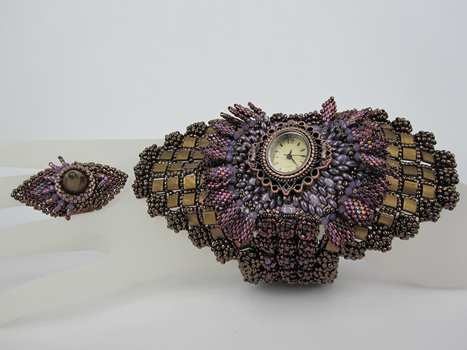Suzanne Neve, Chronus Cuff and Ring, Fire Mountain Gems and Beads