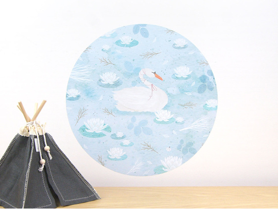Swan Lake wall decal