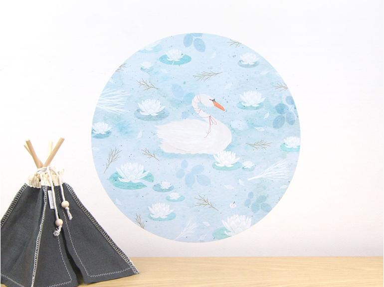 Swan Lake wall decal