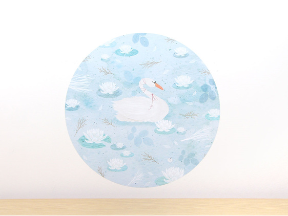 Swan Lake wall decal medium