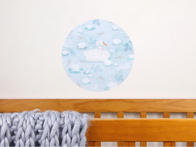 Swan Lake wall decal medium