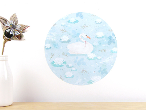 Swan Lake wall decal small