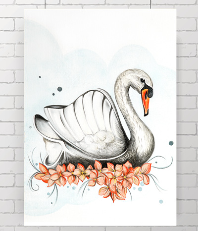 swan - the original painting