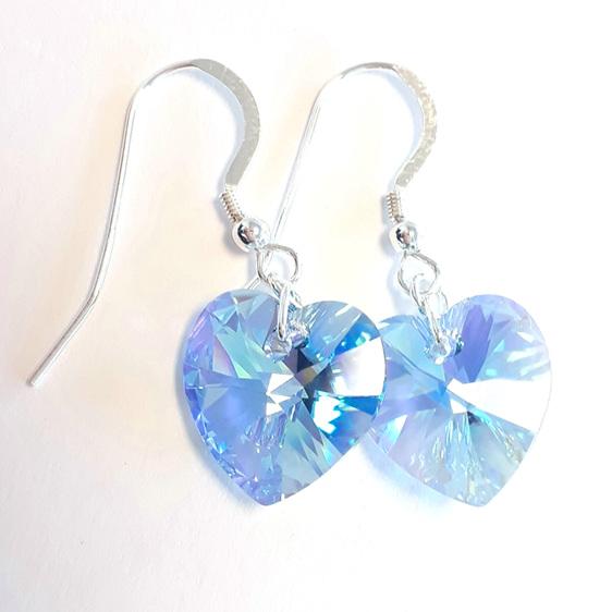 Swarovski Crystal Heart Aquamarine AB