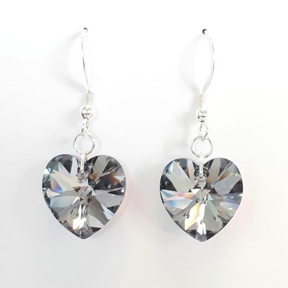 Swarovski earrings Chrome 14mm