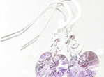 Swarovski Earrings Violet 10mm