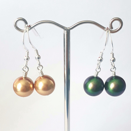 Swarovski Pearl Drops & Sterling Silver Hooks
