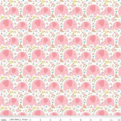 Sweet Baby Girl Elephants Pink C8195