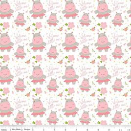Sweet Baby Girl Hippos White C8192