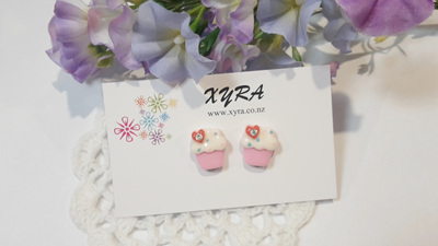 Sweet Cupcake Clip-on Earrings