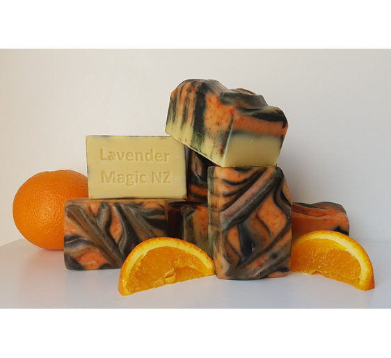 Sweet orange and goats milk soap by Lavender Magic