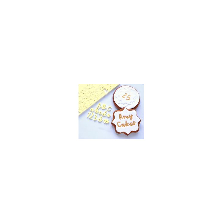 SWEET STAMP -COOKIE SET UPPER LOWER & NUMBER