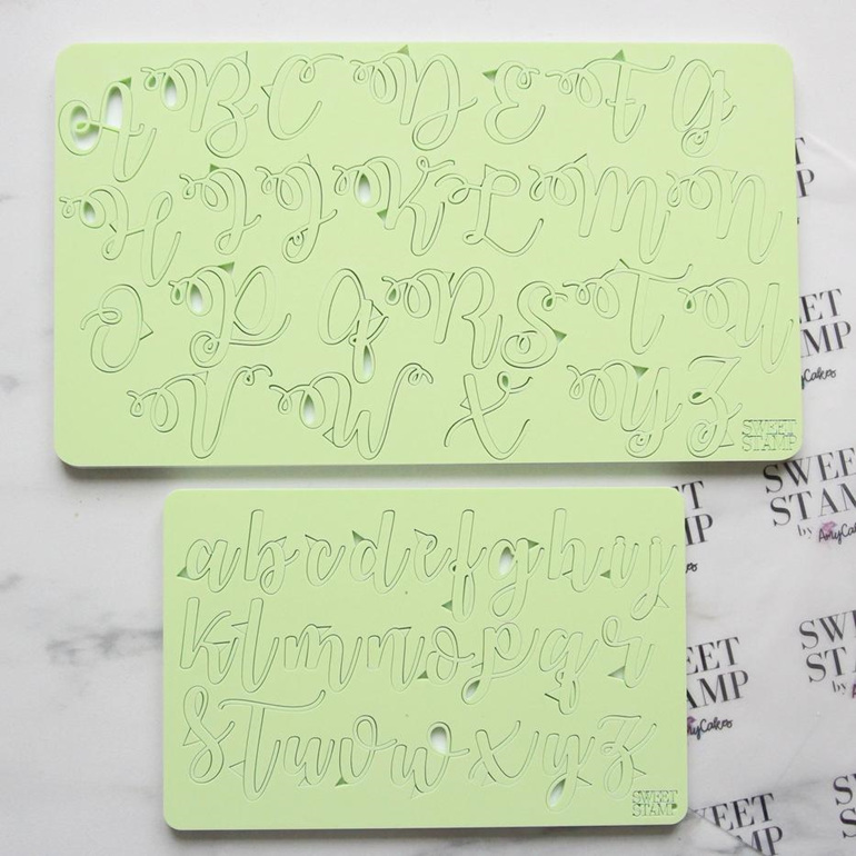 SWEET STAMP- CURLY SET UPPER & LOWER