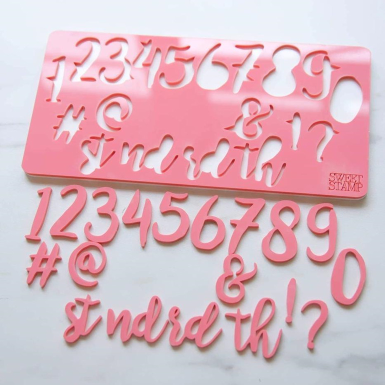Sweet Stamp - Stylish Numberals/Symbols Set