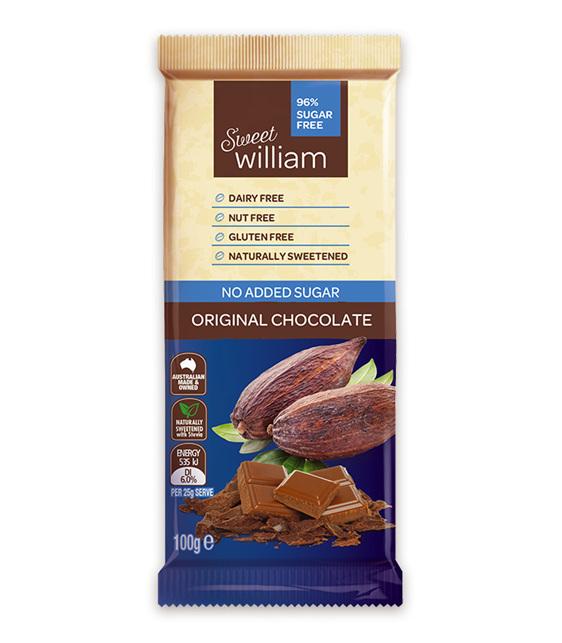 Sweet William 100g Chocolate Blocks