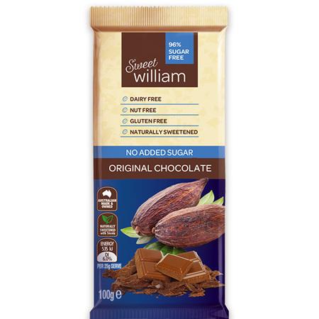 Sweet William Vegan Chocolate Bars - 100g