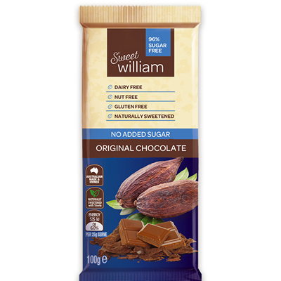 Sweet William Vegan Chocolate Bars - 100g