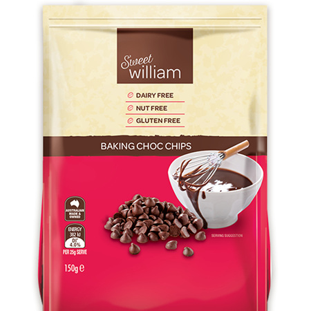 Sweet Williams Baking Choc Chips 150g