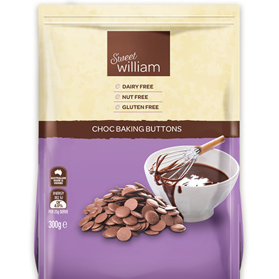 Sweet Williams Choc Baking Buttons 300g