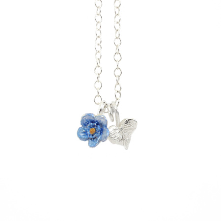 Sweetheart Forget Me Not Necklace (silver heart)