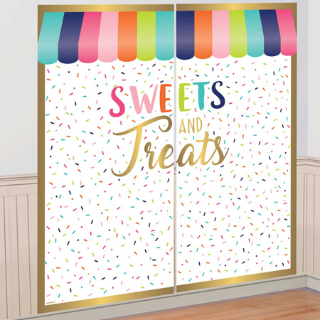 Sweets and Treats backdrop - scene setter.