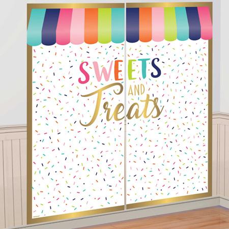 Sweets and Treats backdrop - scene setter.