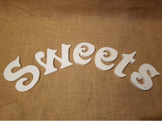 sweets table sign wedding and event hire
