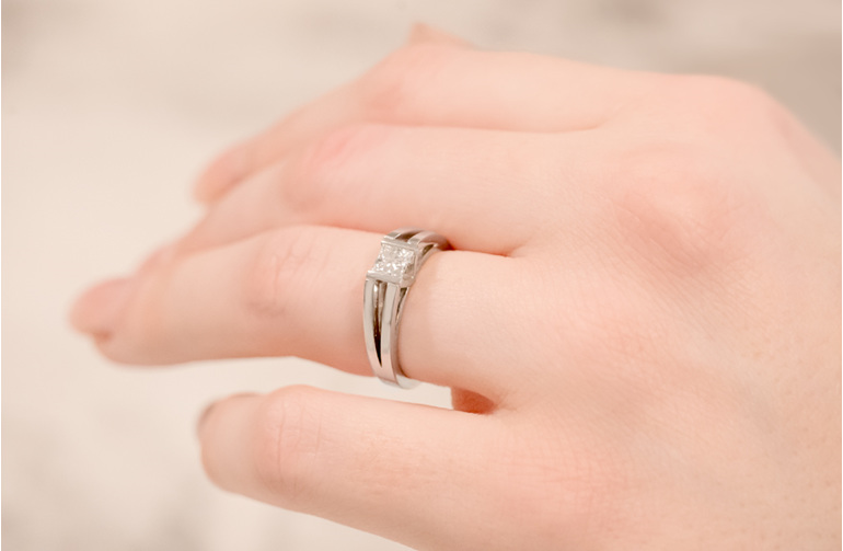 Swete diamond ring from the Inspired Collection on hand