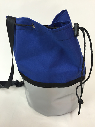 Swim bag - blue/silver