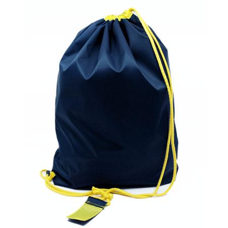 swim pouch | navy/yellow