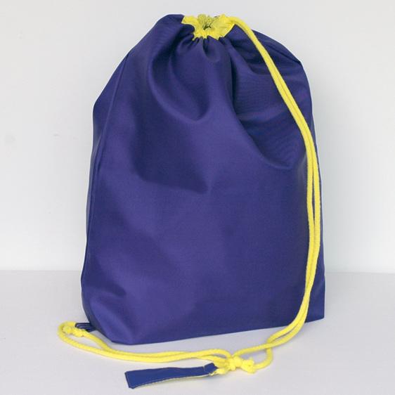 swim pouch - purple with yellow cord - waterproof swim bag