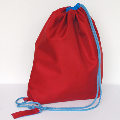 swim pouch | red/bright blue