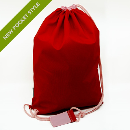 swim pouch | red/light pink