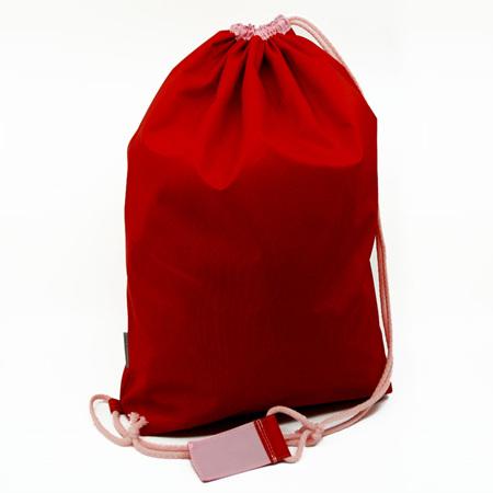 swim pouch | red/light pink