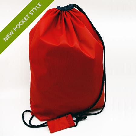 swim pouch | red/navy