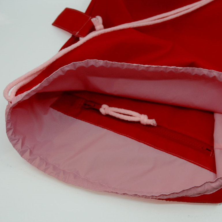 swim pouch waterproof gear bag red pink pocket with zip