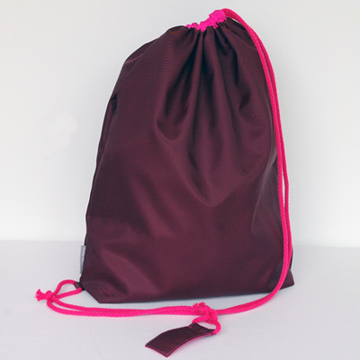 swim pouch | wine/bright pink