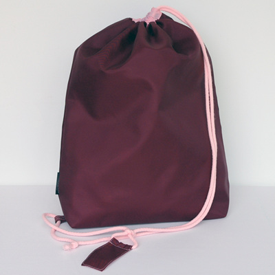 swim pouch | wine/light pink