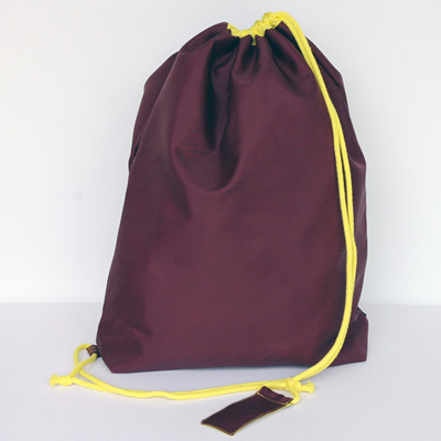 swim pouch | wine/yellow