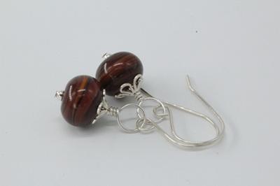 Swirl earrings - wood-look