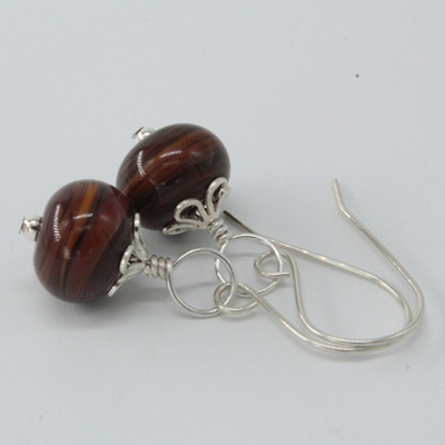 Swirl earrings - wood-look